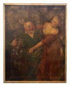 """Gemälde """"Der Biertrinker"""" mit junger Dame"""