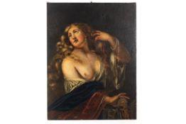 """Gemälde """"Nackte Schönheit mit Schmuck behangen"""""""