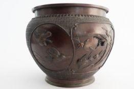 Bronze Blumentopf/ Catchpot