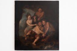 "Painting ""Bacchus"" Ch.A. Coypel"