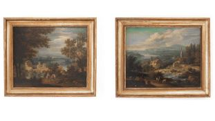 Pair of landscape paintings, old master