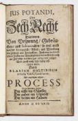 """Blasius Multibibus (Richard Brathwaite): """"Jus potandi, OderBlasius Multibibus (Richard B"""