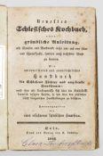 """""""Neuestes Schlesisches Kochbuch"""". Originaltitel""""Neuestes Schlesisches Kochbuch"""". Origina"""