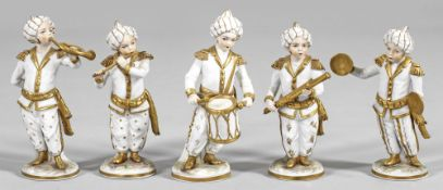 Fünf Musikanten aus der Türkenkapelle