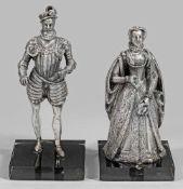 Paar historisierende Skulpturen
