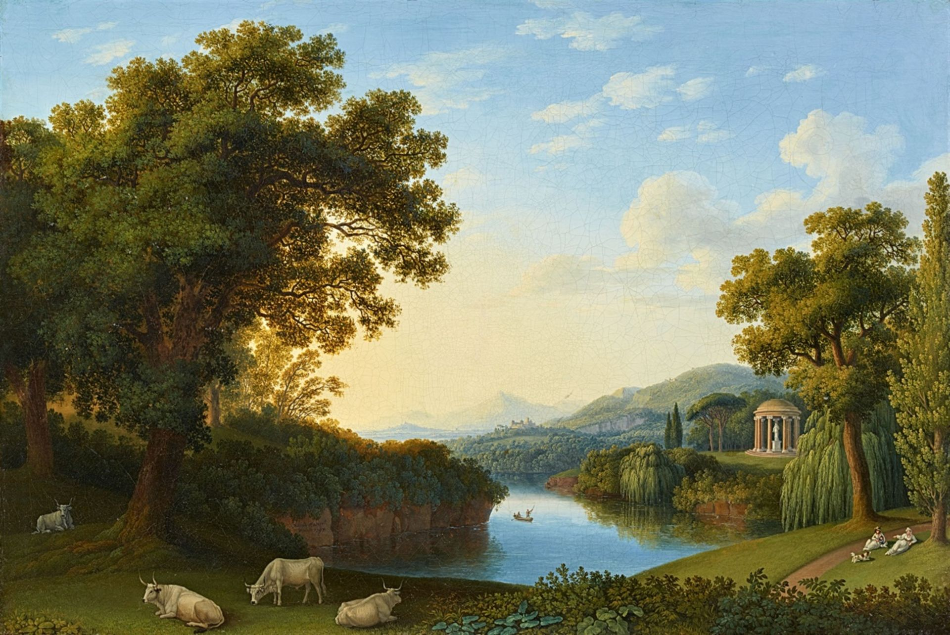Los 2503 - Jacob Philipp HackertLandscape with Motifs from the English Garden in CasertaOil on canvas (