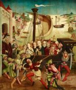 Upper Rhine-Region around 1460The Martyrdom of Saint Ursula and the Eleven Thousand VirginsMixed
