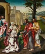 Augsburg School around 1515/1520Christ Taking Leave of His MotherMixed media on panel (partly