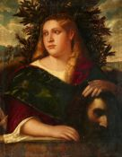 Giovanni de' Busi, called Giovanni CarianiJudith with the Head of HolofernesOil on panel (