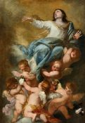 Orazio de FerrariThe Assumption of the VirginOil on canvas (relined).. 134 x 95 cm.CertificateAnna