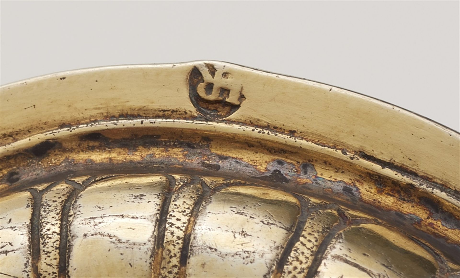 Los 701 - A Nuremberg silver nesting gobletSilver; gold-plated. Silver-gilt drinking chalice formed from two