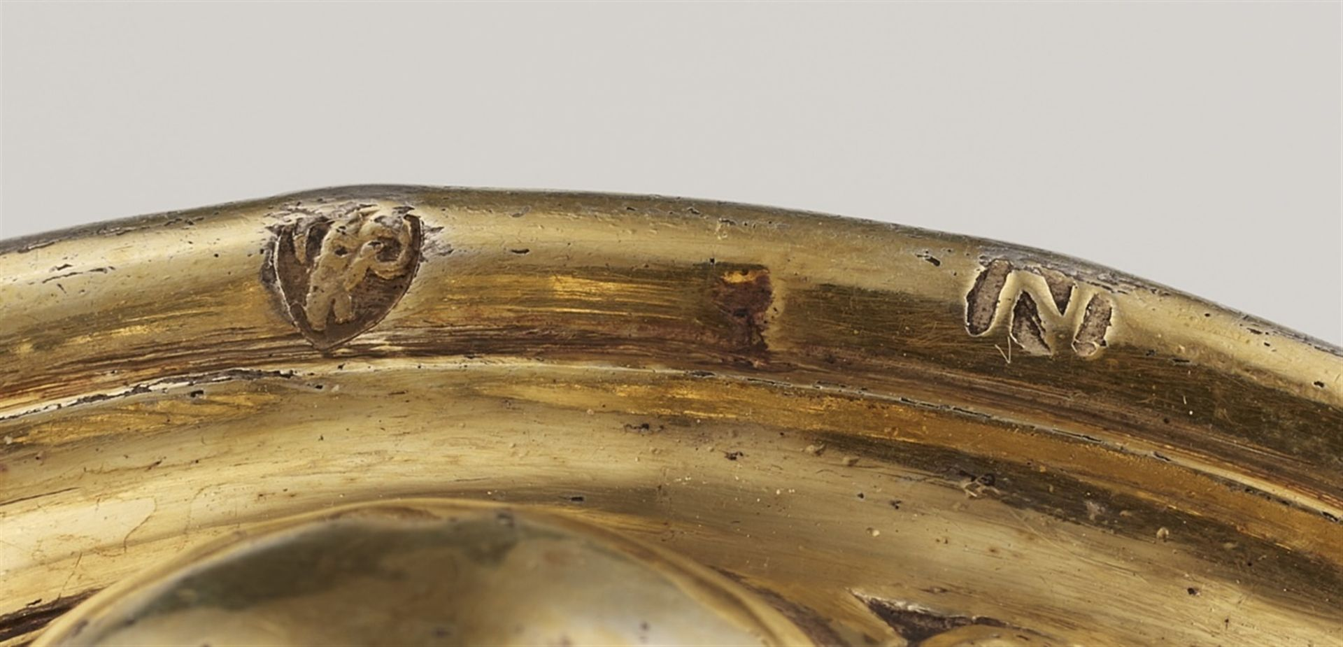 Los 714 - A Nuremberg Renaissance silver gobletSilver-gilt goblet with a gadrooned base supporting a waisted