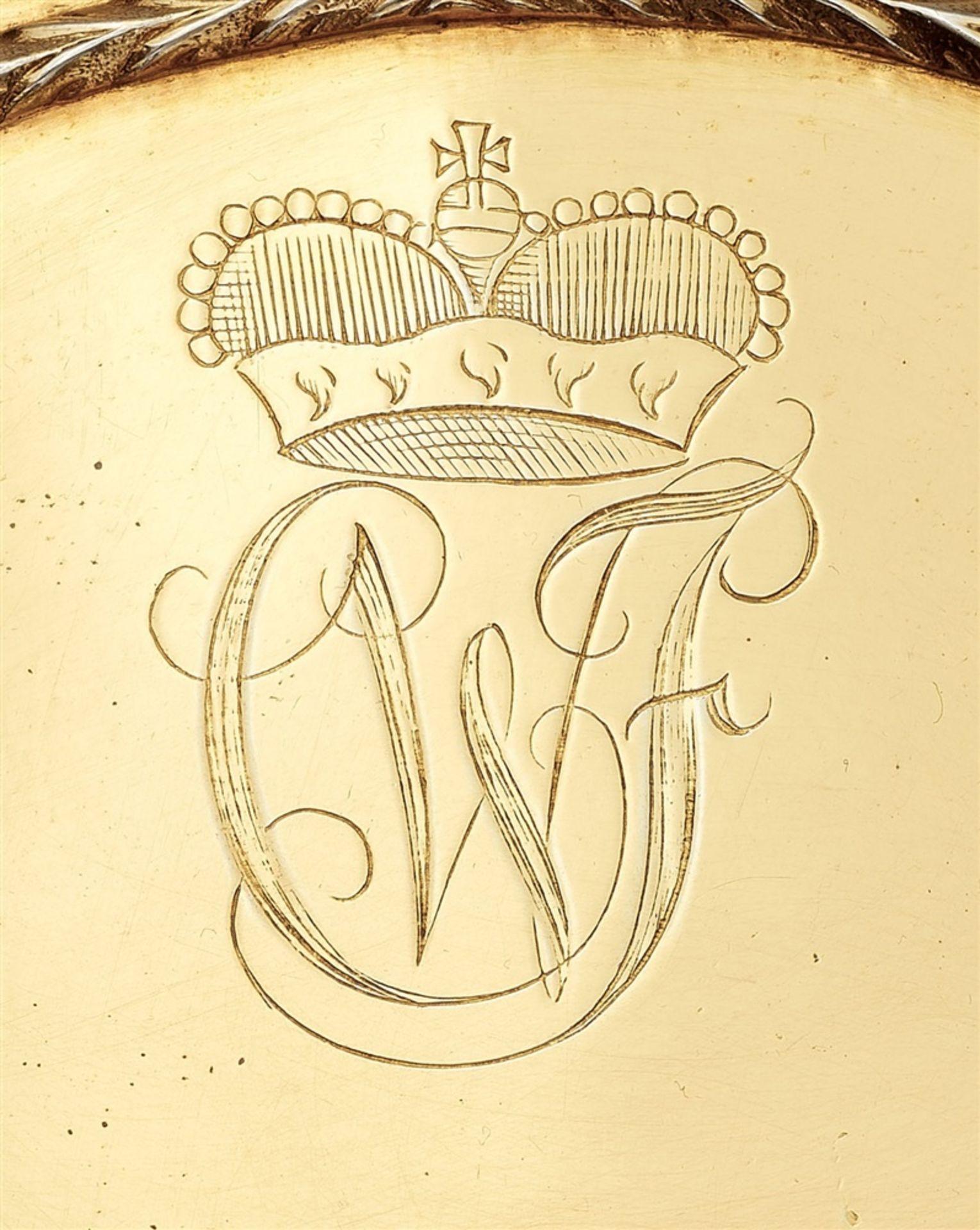 Los 738 - A pair of Braunschweig silver spice boxes made for Duke Carl Wilhelm Ferdinand zu Braunschweig-