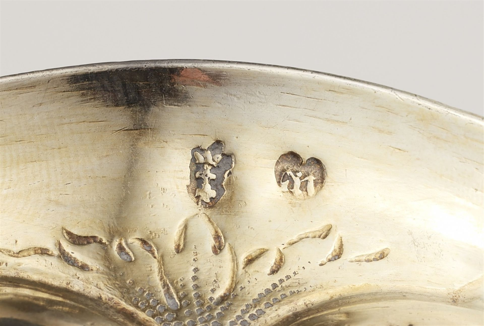Los 717 - A Gdansk silver columbine chaliceSilver; gold-plated. Silver-gilt goblet with a round gadrooned base