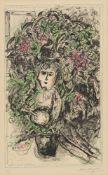 """Marc ChagallJour de MaiOriginal-Farblithographie auf Velin mit Wasserzeichen """"Arches"""" 63 x 38 cm (76"""