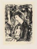 Marc ChagallGrand Autoportrait Noir (Großes schwarzes Selbstbildnis)Original-Lithographie auf leicht