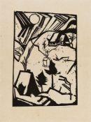 Erich HeckelSchneetreibenOriginal-Holzschnitt auf faserhaltigem Bütten 41,1/43,6 x 28,5/29,4 cm (