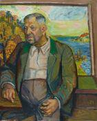 Otto DixBildnis Rechtsanwalt Eberhard AscherÖl auf Leinwand 100 x 81,3 cm Gerahmt. Unten rechts