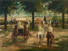 Otto DillAnsicht von Rom mit Kutsche und ReiternÖl auf Leinwand 55 x 73,5 cm Gerahmt. Unten rechts