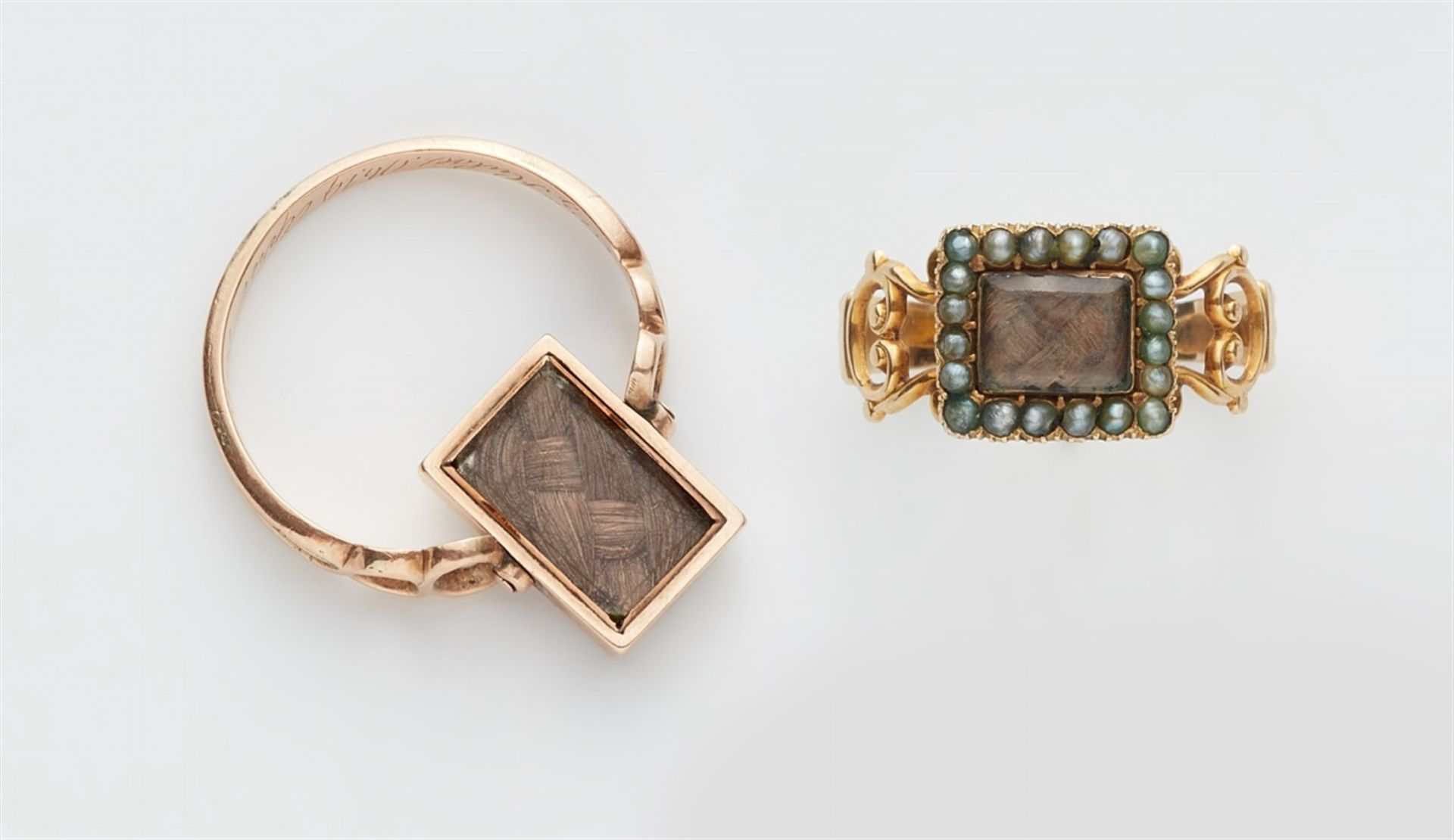 Zwei George III-Mourning-Ringe