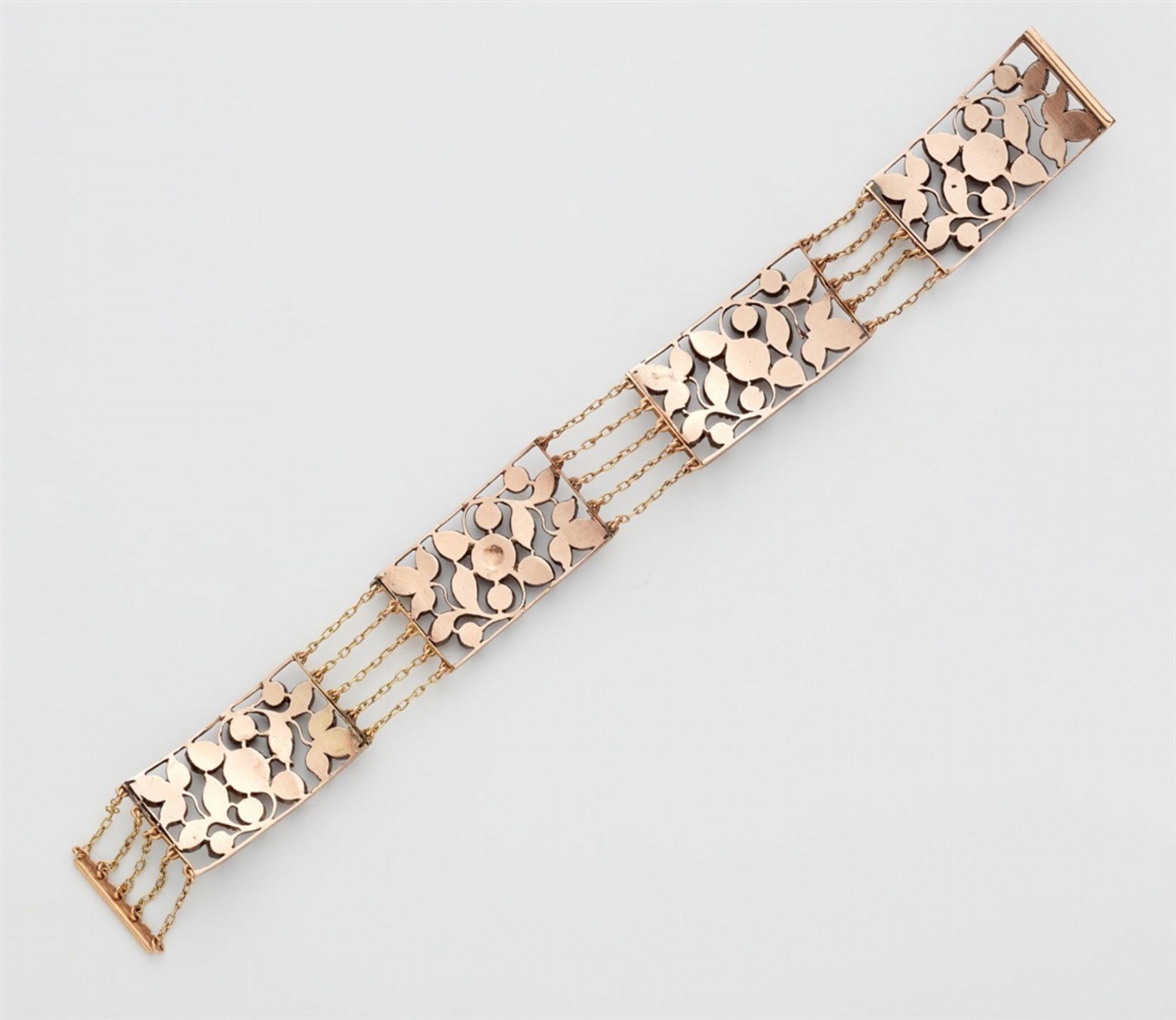 Armband mit Diamantrosen - Bild 2 aus 2