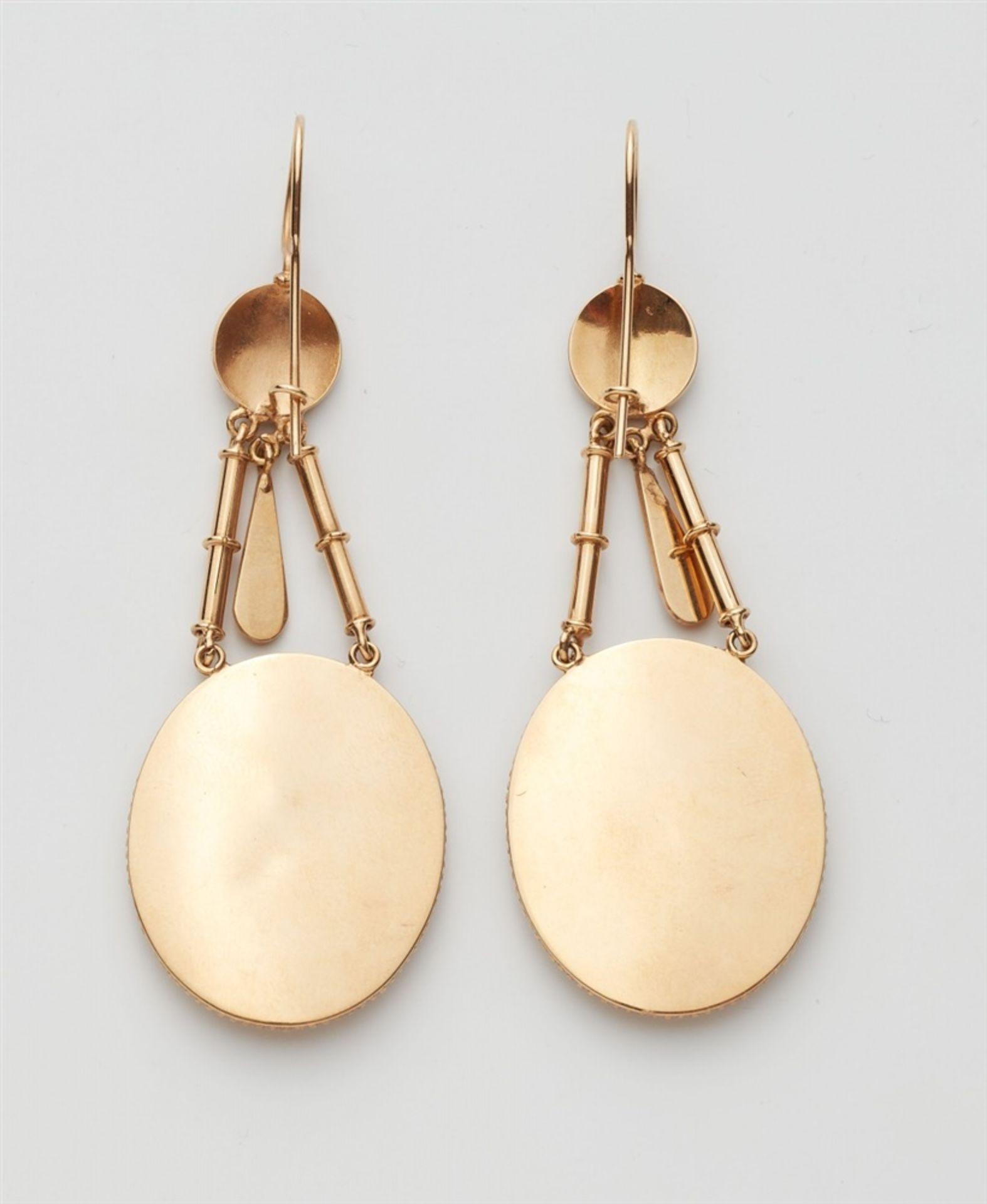 Paar Victorianische Ohrgehänge - Bild 2 aus 2