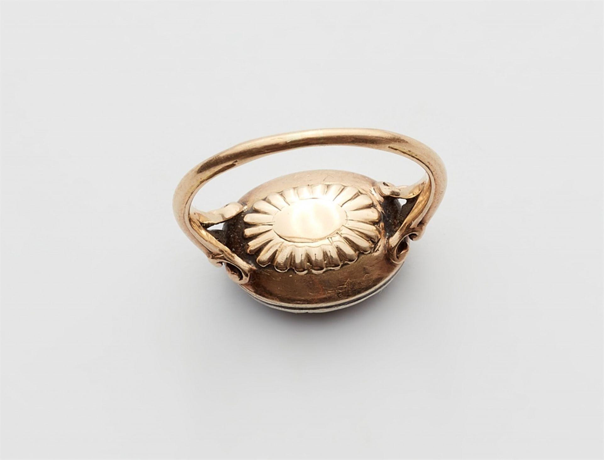 George III-Ring mit Granat - Bild 2 aus 3