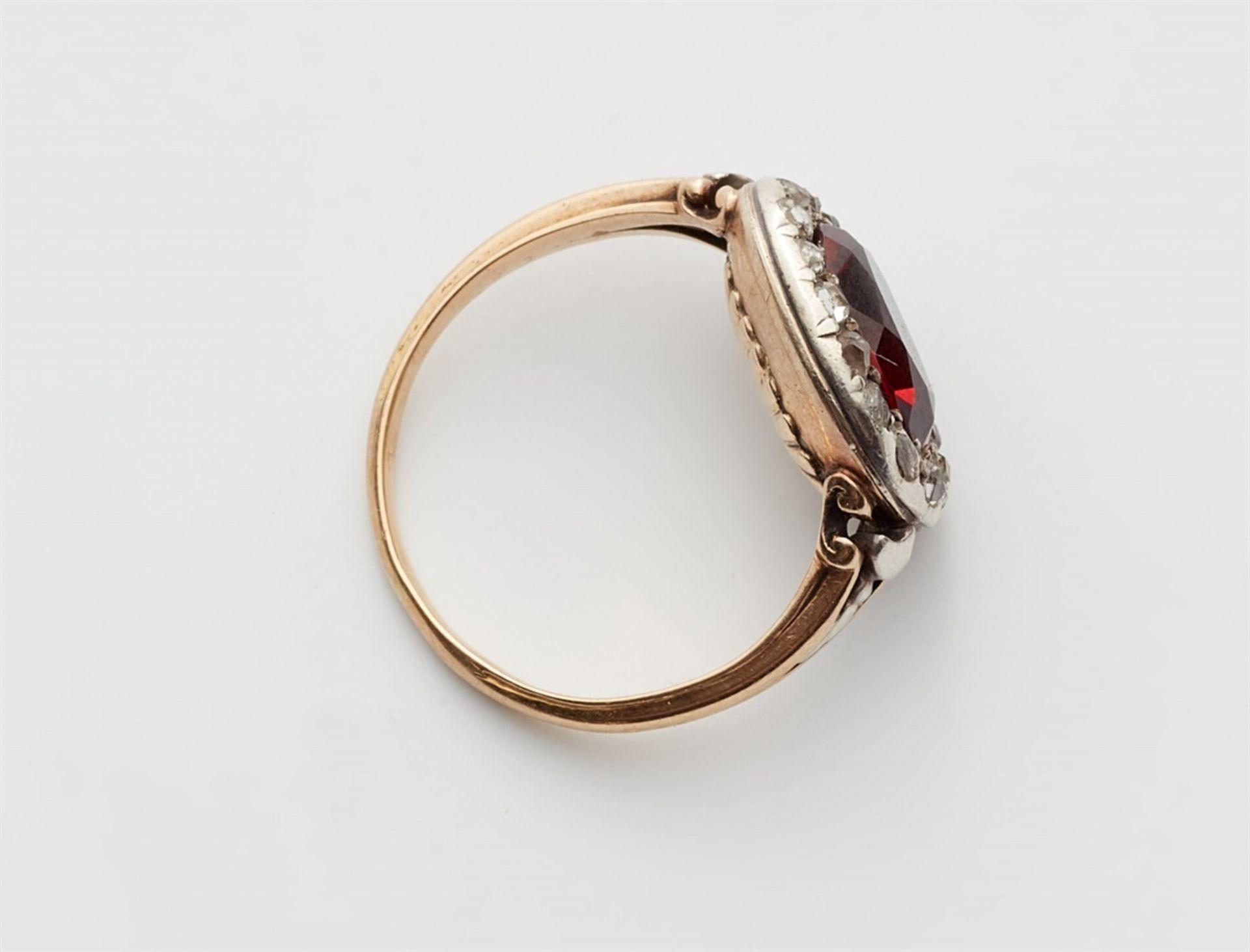 George III-Ring mit Granat - Bild 3 aus 3