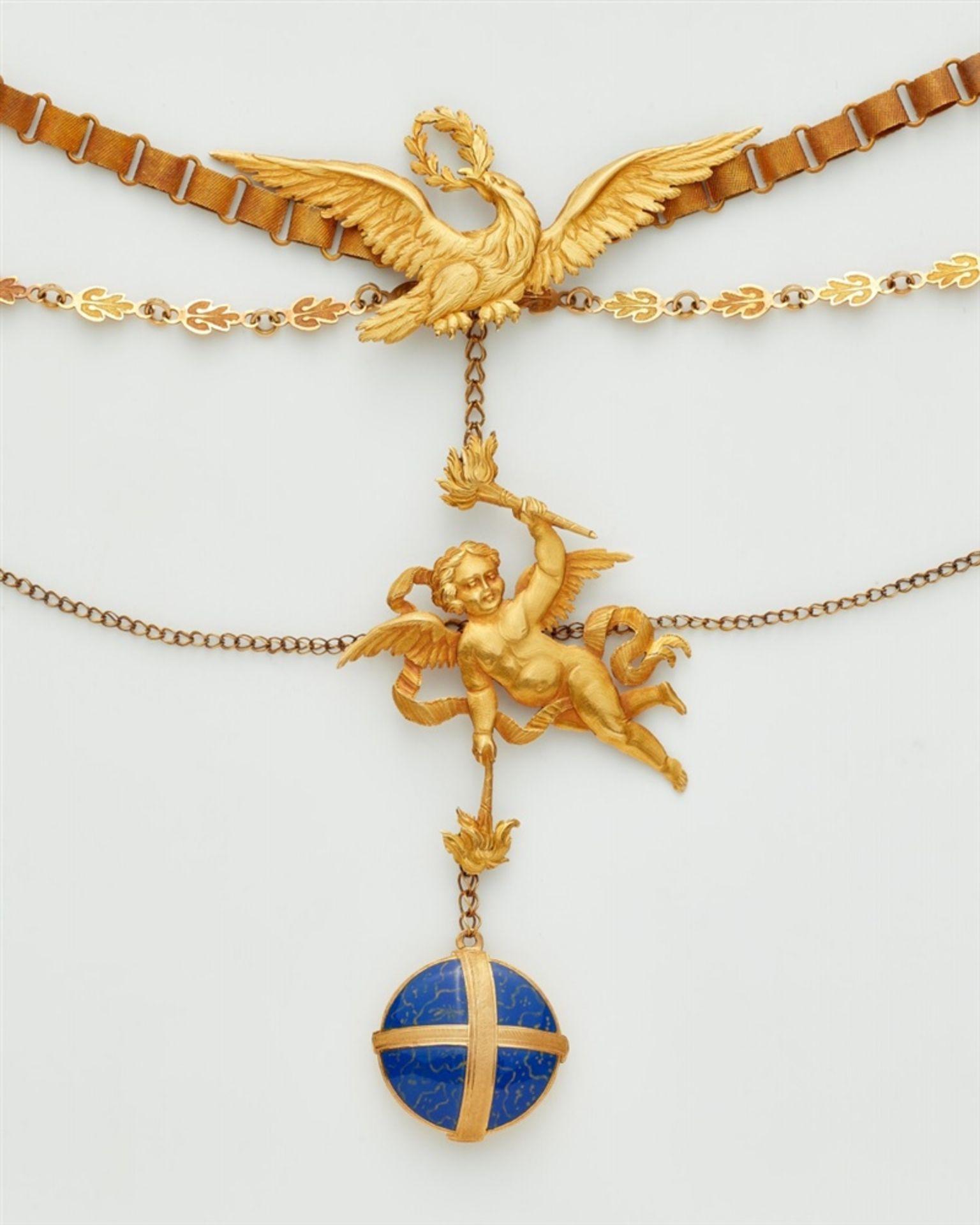Klassizistisches Goldemail-Collier - Bild 2 aus 2