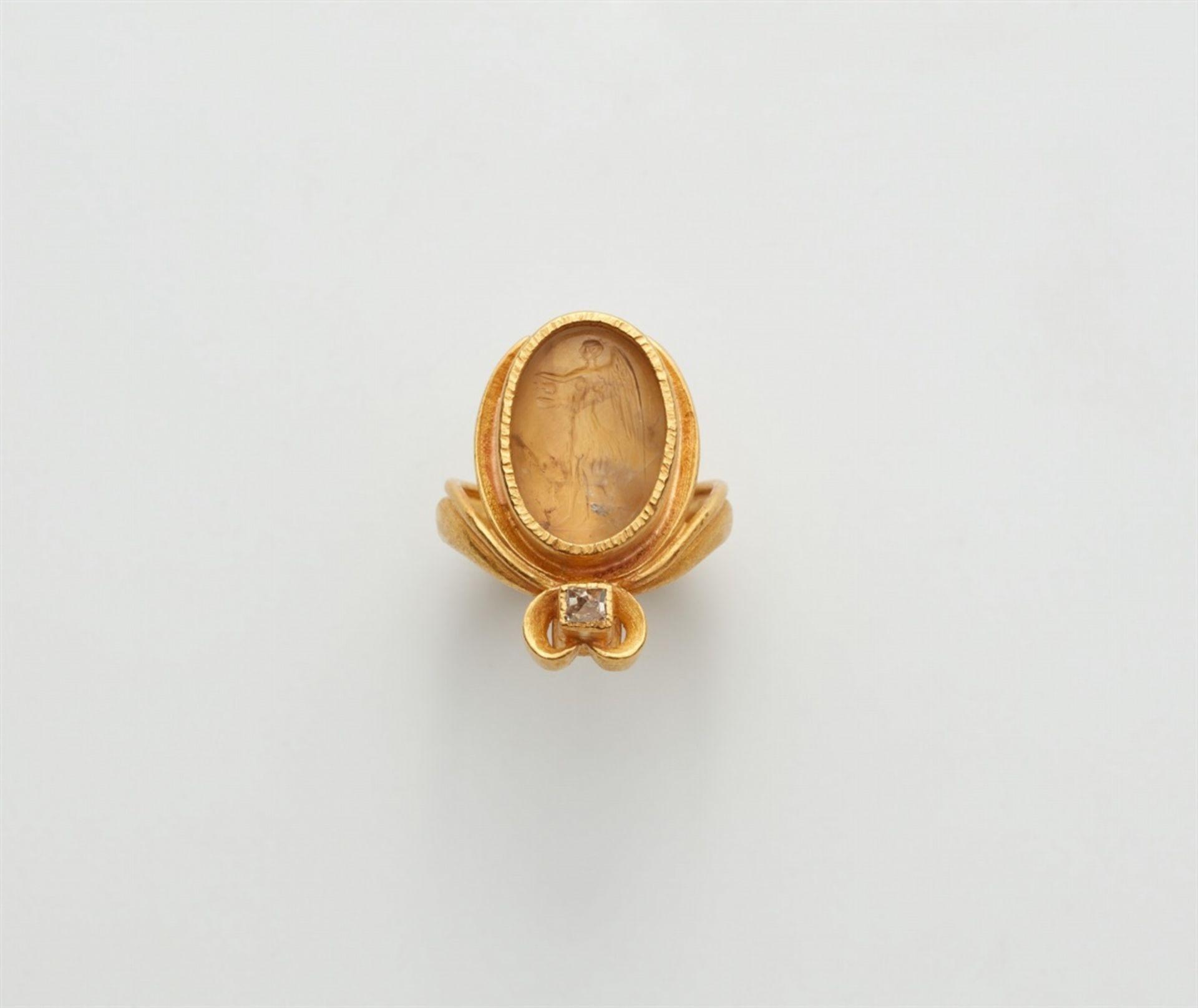Ring mit römischer Gemme