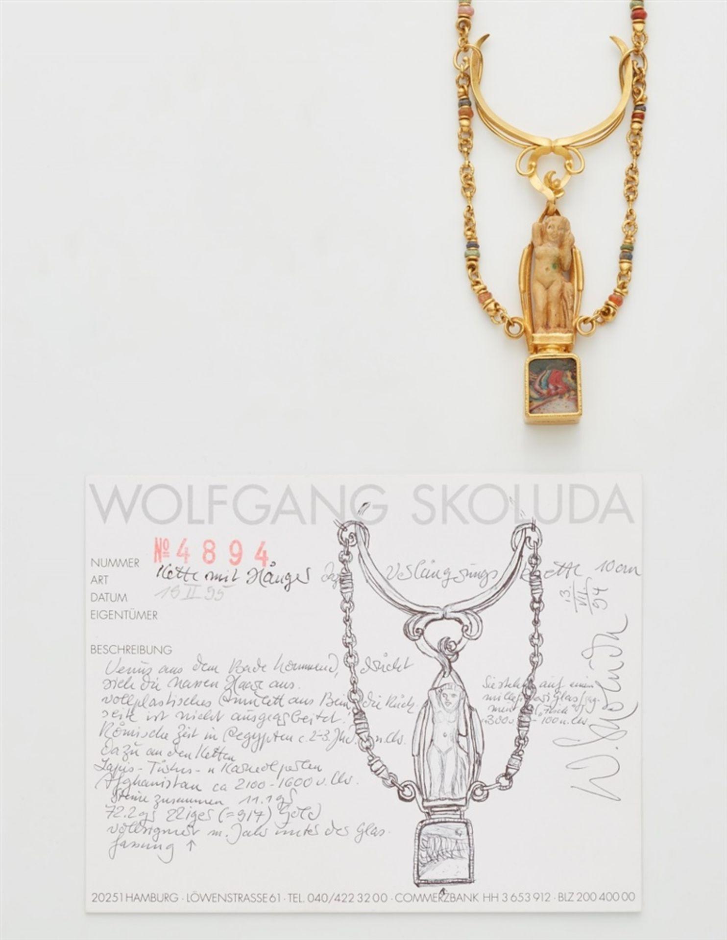 Collier mit antikem Amulett - Bild 2 aus 3