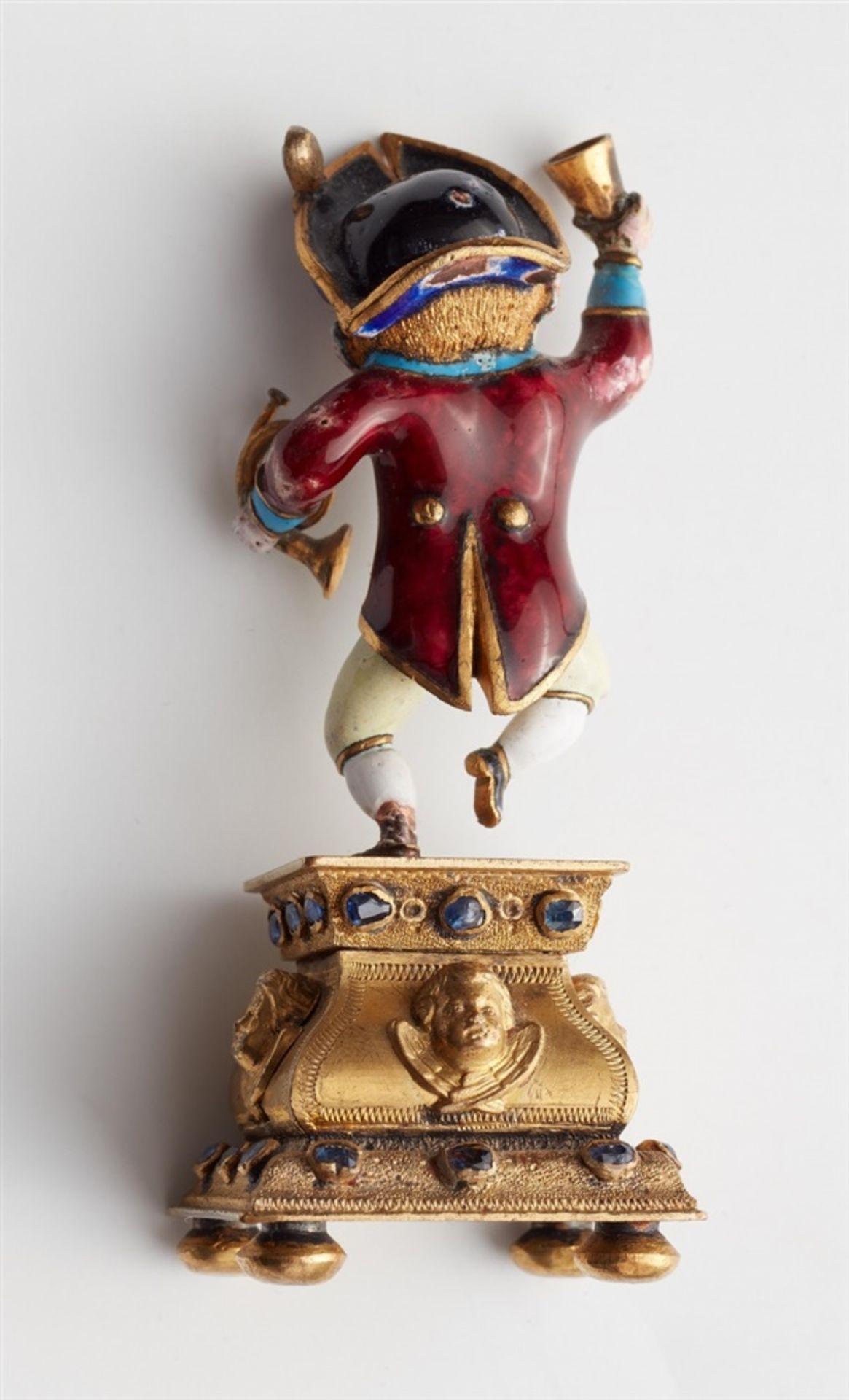 Miniaturstatuette eines zechenden Zwergs - Bild 5 aus 5