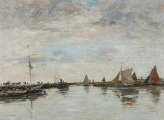 Eugène BoudinSchiffe im Hafen von Trouville