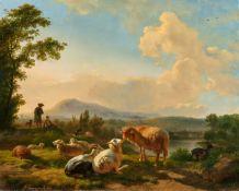 Balthasar Paul OmmeganckLandschaft mit Hirten und Schafen