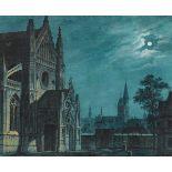 Carl Gustav CarusVorplatz einer gotischen Kirche bei Mondschein