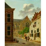 Hendrik van OortDie Kathedrale von Utrecht, von der Domstraat aus gesehen