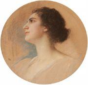 Friedrich August von KaulbachBildnis einer Dame im Profil
