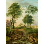 Gerard van NymegenZwei Landschaften mit Hirten und Architekturstücken