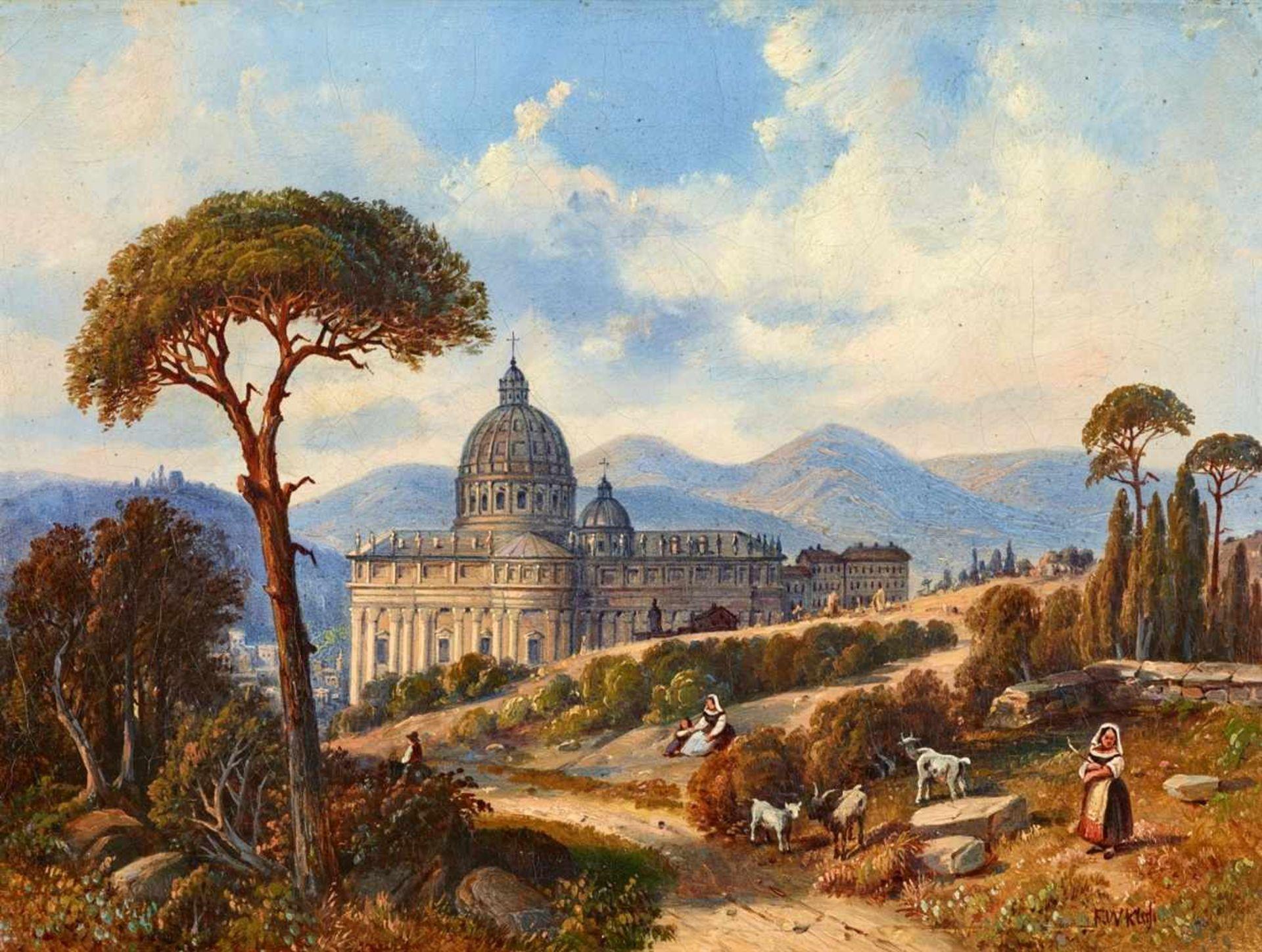 Friedrich Wilhelm KloseLandschaft bei Rom mit Blick auf den Petersdom