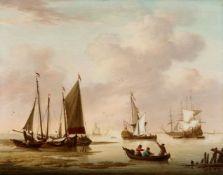 Willem KettZwei Seestücke mit holländischen Schiffen und Booten
