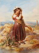 Carl MayerMädchen bei der Getreideernte