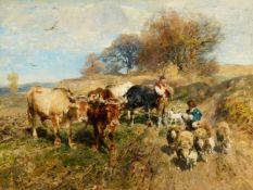Heinrich von ZügelRinder- und Schafherde mit Hirten
