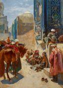 Ferencz EisenhutAuf dem Registan-Platz in Samarkand