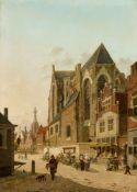 Jan Hendrik VerheyenStrassenszene in einer holländischen Stadt