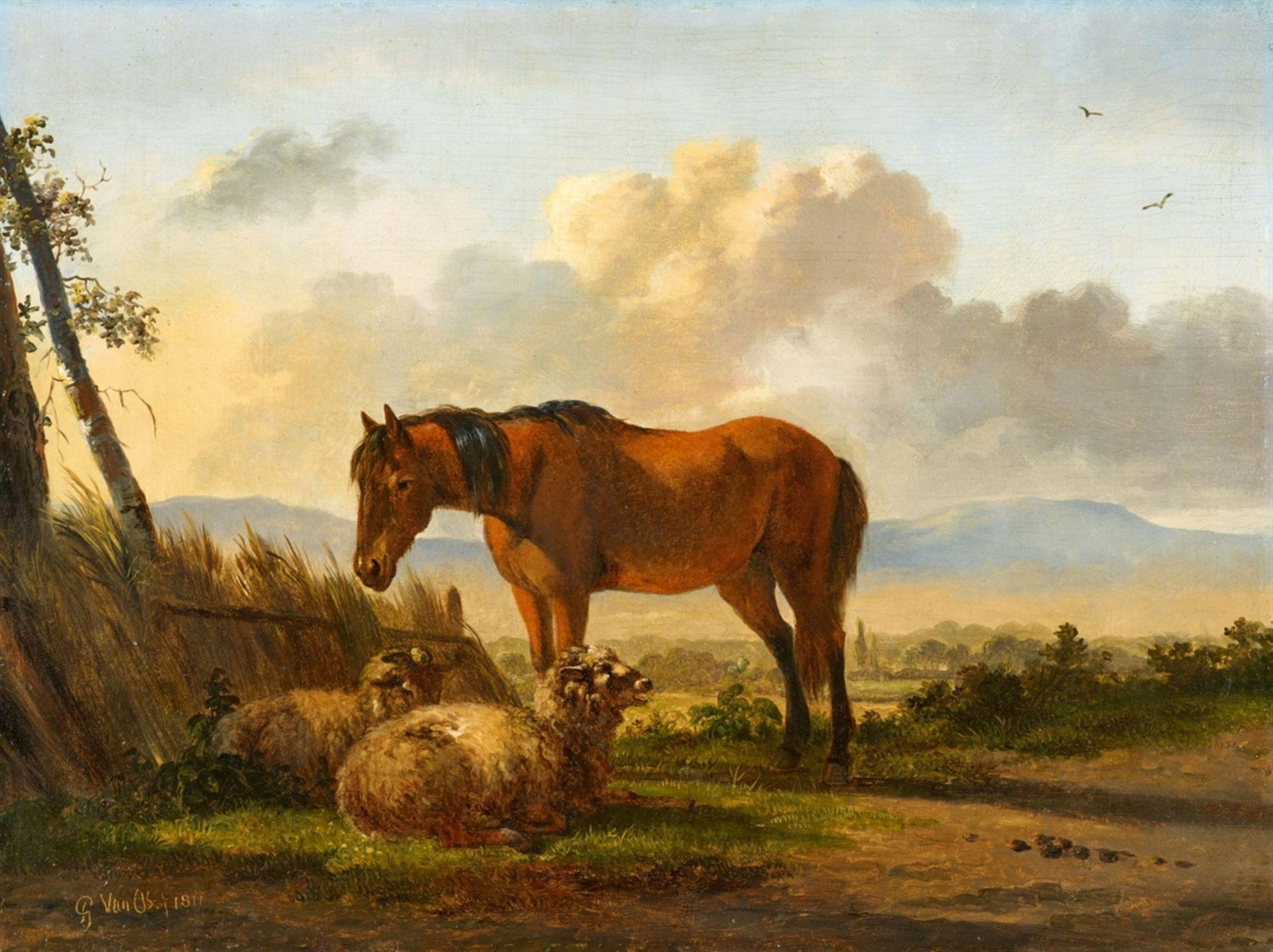 Pieter Gerardus van OsLandschaft mit Schafen und einem Pferd
