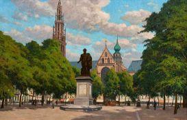 Paul Müller-KaempffBlick auf das Rubensdenkmal. Groenplaats Antwerpen