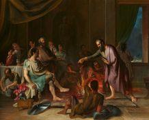 Cornelis TroostPaulus wird von einer Viper gebissen
