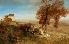 Oswald AchenbachRastende Landleute an der Via Appia beim Grabmal der Cecilia Metella