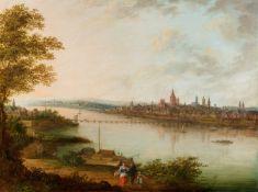 Franz Ludwig Graf von KesselstadtBlick über den Rhein auf Mainz