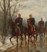 Emil HüntenKaiser Wilhelm I., Fürst Otto von Bismarck sowie Graf Helmuth von Moltke zu Pfer